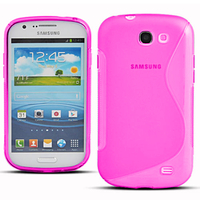 Samsung Galaxy Express I8730/ Express I437: Accessoire Housse Etui Pochette Coque Silicone Gel motif S Line - ROSE