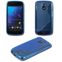 Samsung Galaxy Nexus i9250/ i9250M/ Google Nexus 3: Accessoire Housse Etui Pochette Coque Silicone Gel motif S Line - BLEU