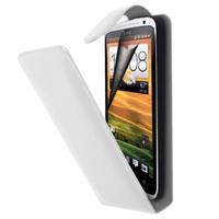 HTC Desire X T328E/ G7X: Accessoire Etui Housse Coque Pochette simili cuir à rabat vertical - BLANC
