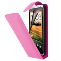 HTC Desire X T328E/ G7X: Accessoire Etui Housse Coque Pochette simili cuir à rabat vertical - ROSE