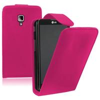 LG Optimus L7 II P710/ L7X P714: Accessoire Etui Housse Coque Pochette simili cuir à rabat vertical - ROSE