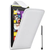 Nokia Lumia 1320/ RM-994/ RM-995/ RM-996: Accessoire Etui Housse Coque Pochette simili cuir à rabat vertical + Stylet - BLANC