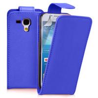 Samsung Galaxy Trend S7560/ Galaxy S Duos S7562/ Ace II X S7560M: Accessoire Etui Housse Coque Pochette simili cuir à rabat vertical - BLEU FONCE