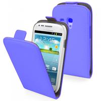 Samsung Galaxy Trend S7560/ Galaxy S Duos S7562/ Ace II X S7560M: Accessoire Housse Coque Pochette Etui protection vrai cuir à rabat vertical - BLEU