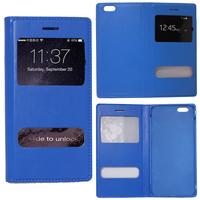 Apple iPhone 6/ 6s: Accessoire Coque Etui Housse Pochette Plastique View Case - BLEU