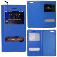 Apple iPhone 6/ 6s: Accessoire Coque Etui Housse Pochette Plastique View Case + mini Stylet - BLEU