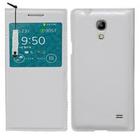 Samsung SM-G3518 Galaxy Core TD-LTE (non compatible SM-386F): Accessoire Coque Etui Housse Pochette Plastique View Case + mini Stylet - BLANC