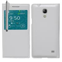 Samsung SM-G3518 Galaxy Core TD-LTE (non compatible SM-386F): Accessoire Coque Etui Housse Pochette Plastique View Case + Stylet - BLANC