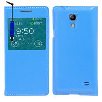Samsung SM-G3518 Galaxy Core TD-LTE (non compatible SM-386F): Accessoire Coque Etui Housse Pochette Plastique View Case + mini Stylet - BLEU