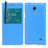 Samsung SM-G3518 Galaxy Core TD-LTE (non compatible SM-386F): Accessoire Coque Etui Housse Pochette Plastique View Case + Stylet - BLEU