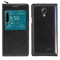 Samsung SM-G3518 Galaxy Core TD-LTE (non compatible SM-386F): Accessoire Coque Etui Housse Pochette Plastique View Case + mini Stylet - NOIR