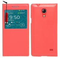 Samsung SM-G3518 Galaxy Core TD-LTE (non compatible SM-386F): Accessoire Coque Etui Housse Pochette Plastique View Case + mini Stylet - ROUGE