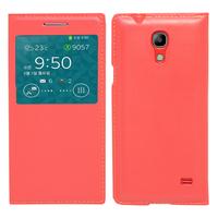 Samsung SM-G3518 Galaxy Core TD-LTE (non compatible SM-386F): Accessoire Coque Etui Housse Pochette Plastique View Case - ROUGE