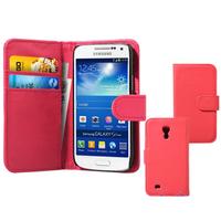 Samsung Galaxy S4 mini i9190/ S4 mini plus I9195I/ i9192/ i9195/ i9197: Accessoire Etui portefeuille Livre Housse Coque Pochette cuir PU - ROSE