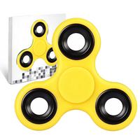 Spinner Fidget Jouet Tri Fidget Hand Spinner Pour Adultes Enfant, couleur JAUNE