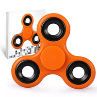 Spinner Fidget Jouet Tri Fidget Hand Spinner Pour Adultes Enfant, couleur ORANGE
