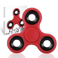 Spinner Fidget Jouet Tri Fidget Hand Spinner Pour Adultes Enfant, couleur ROUGE