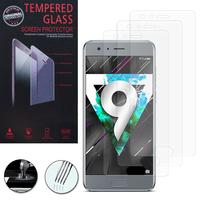 Huawei Honor 9 STF-L09/ Honor 9 Premium: Lot / Pack de 3 Films de protection d'écran Verre Trempé