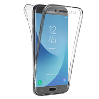 Samsung Galaxy J5 Pro (2017) J530Y/DS: Coque Housse Silicone Gel TRANSPARENTE ultra mince 360° protection intégrale Avant et Arrière - TRANSPARENT