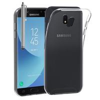 Samsung Galaxy J5 Pro (2017) J530Y/DS: Accessoire Housse Etui Coque gel UltraSlim et Ajustement parfait + Stylet - TRANSPARENT