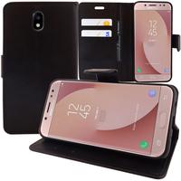 Samsung Galaxy J7 (2017) SM-J730F/DS/ J7 (2017) Duos J730F/DS: Accessoire Etui portefeuille Livre Housse Coque Pochette support vidéo cuir PU - NOIR