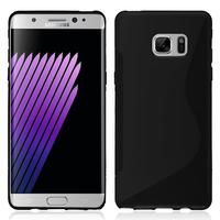 Samsung Galaxy Note FE/ Note Fan Edition N935S/ N935K/ N935L: Accessoire Housse Etui Pochette Coque Silicone Gel motif S Line - NOIR