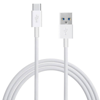 Câble Charge USB 3.0 Type C vers USB standard type A, 1m de long, couleur BLANC