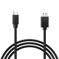 Câble Charge USB 3.0 Type C vers USB standard type A, 1m de long, couleur NOIR