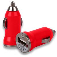 VCOMP® Adaptateur Allume cigare USB Entrée : 12 - 24V. Sortie : 5V, 1A. Couleur ROUGE