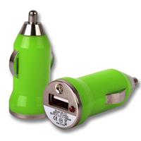 VCOMP® Adaptateur Allume cigare USB Entrée : 12 - 24V. Sortie : 5V, 1A. Couleur VERT