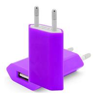 VCOMP® Adaptateur Prise Secteur Mural Universel USB Couleur VIOLET