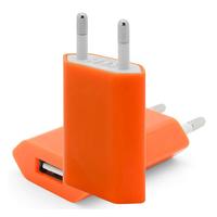 VCOMP® Adaptateur Prise Secteur Mural Universel USB Couleur ORANGE