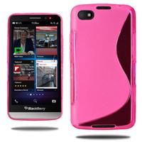 Blackberry Z30: Accessoire Housse Etui Pochette Coque Silicone Gel motif S Line - ROSE