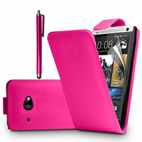 HTC Desire 601 Zara/ Dual Sim: Accessoire Etui Housse Coque Pochette simili cuir à rabat vertical + Stylet - ROSE