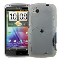 HTC Sensation G14/ Pyramid 4G: Accessoire Housse Etui Pochette Coque Silicone Gel motif S Line - TRANSPARENT