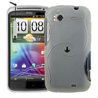 HTC Sensation G14/ Pyramid 4G: Accessoire Housse Etui Pochette Coque Silicone Gel motif S Line + mini Stylet - TRANSPARENT