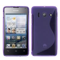 Huawei Ascend Y300: Accessoire Housse Etui Pochette Coque Silicone Gel motif S Line - VIOLET