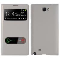 Samsung Galaxy Note 2 N7100/ N7105: Accessoire Coque Etui Housse Pochette Plastique View Case - BLANC