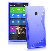 Nokia X/ X+/ A110/ Dual SIM RM-980/ RM-1053: Accessoire Housse Etui Pochette Coque Silicone Gel motif S Line - BLEU