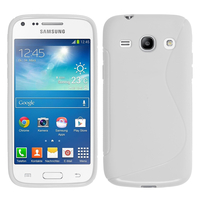 Samsung Galaxy Star 2 Plus/ Advance SM-G350E: Accessoire Housse Etui Pochette Coque Silicone Gel motif S Line - BLANC