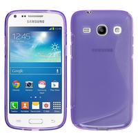 Samsung Galaxy Star 2 Plus/ Advance SM-G350E: Accessoire Housse Etui Pochette Coque Silicone Gel motif S Line - VIOLET