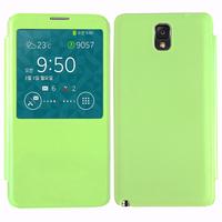 Samsung Galaxy Note 3 N9000/ N9002/ N9005/ N9006: Accessoire Coque Etui Housse Pochette Plastique View Case - VERT