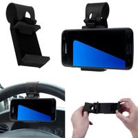 VCOMP® Support voiture universel avec fixation attache volant pour tous les smartphones avec une largeur de 5,5 cm à 7,8 cm