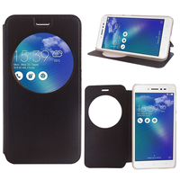"""Asus Zenfone Live ZB501KL 5.0""""/ Zenfone 3 Go (non compatible Zenfone Go ZB500KL): Etui View Case Flip Folio Leather cover - NOIR"""