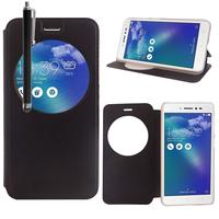 """Asus Zenfone Live ZB501KL 5.0""""/ Zenfone 3 Go (non compatible Zenfone Go ZB500KL): Etui View Case Flip Folio Leather cover + Stylet - NOIR"""