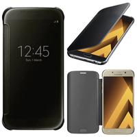 """Samsung Galaxy A5 (2017) 5.2"""" A520F/ A5 (2017) Duos (non compatible Version 2014/ 2015/ 2016): Coque Silicone gel rigide Livre rabat - NOIR"""