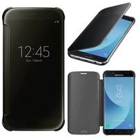 Samsung Galaxy J5 Pro (2017) J530Y/DS: Coque Silicone gel rigide Livre rabat - NOIR