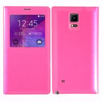 Samsung Galaxy Note 4 SM-N910F/ Note 4 Duos (Dual SIM) N9100/ Note 4 (CDMA)/ N910C N910W8 N910V N910A N910T N910M: Accessoire Coque Etui Housse Pochette Plastique View Case - ROSE