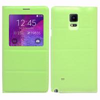 Samsung Galaxy Note 4 SM-N910F/ Note 4 Duos (Dual SIM) N9100/ Note 4 (CDMA)/ N910C N910W8 N910V N910A N910T N910M: Accessoire Coque Etui Housse Pochette Plastique View Case - VERT