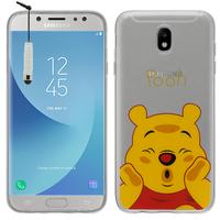 Samsung Galaxy J5 (2017) SM-J750F/DS/ J5 (2017) Duos J530F/DS: Coque Housse silicone TPU Transparente Ultra-Fine Dessin animé jolie + mini Stylet - Winnie the Pooh